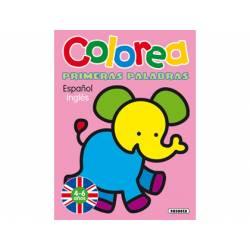 Cuaderno Colorear Español-Ingles 12 páginas Susaeta
