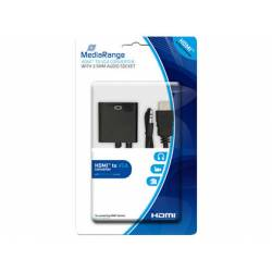 CABLE HDMI A VGA JACK 3.5 MM MEDIARANGE NEGRO