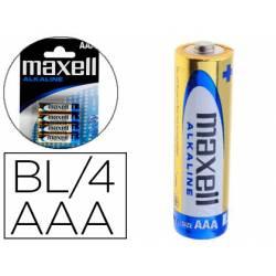 Pilas Maxell Alcalina 1.5 V AAA LR03 Blister de 4 unidades