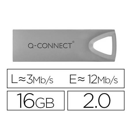 Memoria usb 16 Gb Q-CONNECT 2.0 Flash Premium Plateado