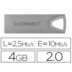Memoria usb 4 Gb Q-CONNECT 2.0 Flash Premium Plateado