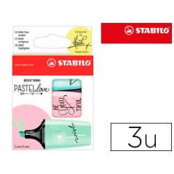 Rotulador Stabilo Boss Mini Pastellove Estuche con 3 Unidades Pizca de menta/rubor rosa/toque de turquesa