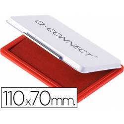 Tampon Q-Connect Nº 2 Color Rojo 110x70mm