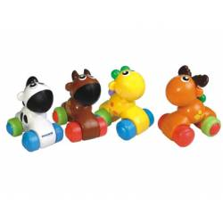 Juego para bebes a partir de 1 año Coches de animalitos Miniland