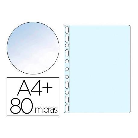 Funda Multitaladro Q-Connect DIN A4+ 80 MC Cristal 10 uds