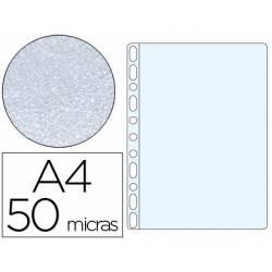 Funda Multitaladro Q-Connect DIN A4 50 MC Piel de Naranja 10 uds