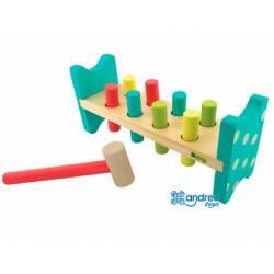 Juego para bebes a partir de 1 año Pica colores Andreutoys