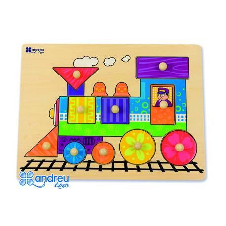 Puzzle Tren 10 piezas a partir de 18 meses Andreutoys
