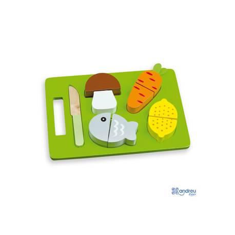 Juego de Imitacion para bebes a partir de 1 año Alimentos para cortar Ambitoys