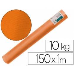 Bobina papel tipo kraft verdujado color naranja 1x150 mt Liderpapel