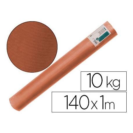 Bobina papel tipo kraft verdujado color marron 1x150 mt Liderpapel