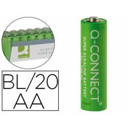 Pila Q-Connect Alcalina AA Blister de 20 unidades