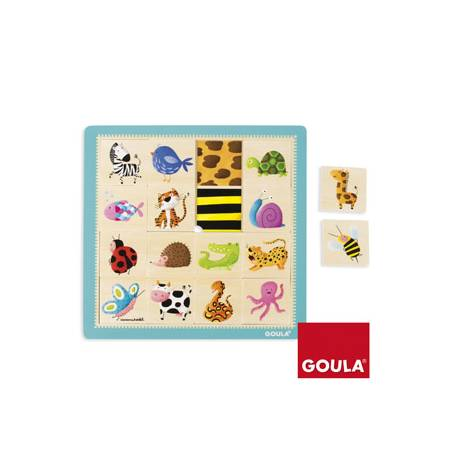 Puzzle Texturas a partir de 1 año de 16 piezas Goula