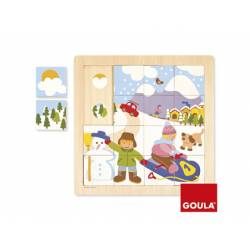 Puzzle Invierno a partir de 2 años 16 piezas Goula