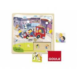 Puzzle Camión Bomberos a partir de 1 año de 16 piezas Goula