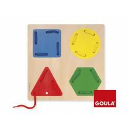 Juego Didactico a partir de 2 años Enhebrar formas geometricas Goula