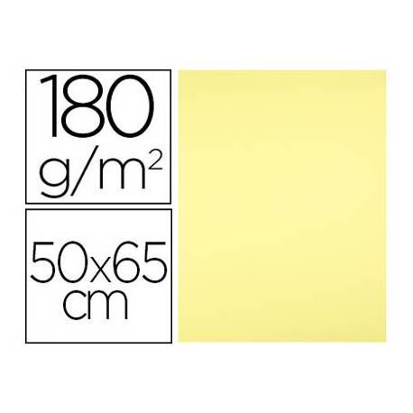 Cartulina Liderpapel color Amarillo Medio 50x65 cm 180 gr