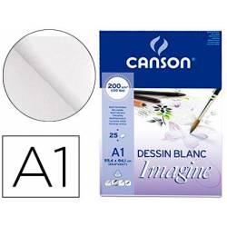 Bloc Dibujo Multitecnicas Canson DIN A1 Encolado Liso