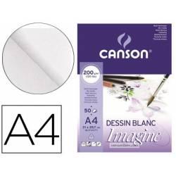 Bloc Dibujo Multitecnicas Canson DIN A4 Encolado Liso