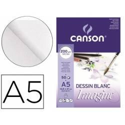 Bloc Dibujo Multitecnicas Canson DIN A5 Encolado Liso