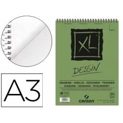 Bloc Dibujo Dessin Canson XL DIN A3 Microperforado Espiral Grano Fino