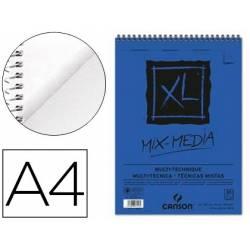 Bloc Dibujo Acuarela Canson XL DIN A4 Microperforado Espiral Grano Medio