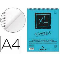Bloc Dibujo Acuarela Canson XL DIN A4 Microperforado Espiral Grano Fino