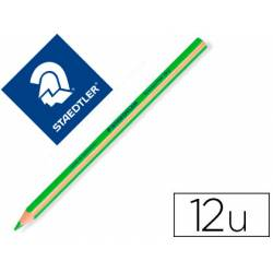 Lapices Fluorescentes Staedtler Triangular Top Star Verde Caja de 12 unidades
