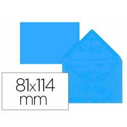 Sobre C7 Liderpapel 81x114mm 80g/m2 Color Azul Pack de 12 unidades