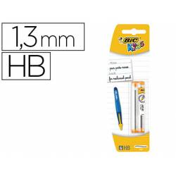 Minas Bic Kids BP Twists 1,3mm HB grafito Blister de 2 tubos con 6 minas