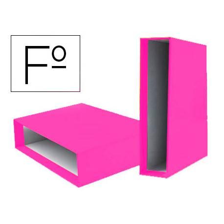 Caja Archivador Liderpapel Documenta Folio Lomo 75 mm color Rosa