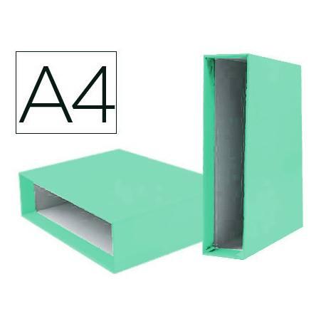 Caja archivador Liderpapel lomo 75 mm VERDE CLARO