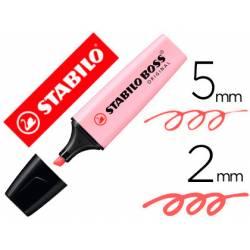 Rotulador Stabilo Boss Pastel Rubor Rosa
