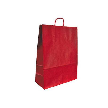 Bolsa Kraft Q-connect Rojo de 240x100x310 mm
