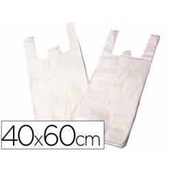 Bolsa de plastico camiseta 40x60 cm con 2 asas biodegradable