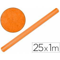 Bobina Papel Kraft Liderpapel de 25x1 m Naranja fuerte