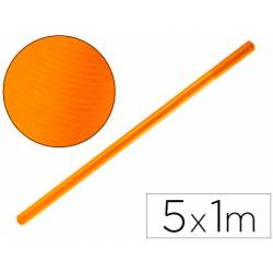 Bobina Papel Kraft Liderpapel de 5x1 m Naranja fuerte