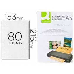 Bolsa de plastificar Q-Connect Din A5 80 Micras