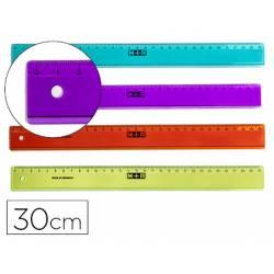 Regla plástico graduada Mor 30 cm Colores surtidos