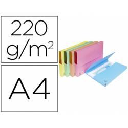 Subcarpeta Cartulina Lustrada DIN A4 Exacompta con bolsa Colores Surtidos 220 gr 50 unidades