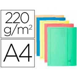 Subcarpeta Cartulina Lustrada DIN A4 Exacompta con bolsa Colores Surtidos 220 gr 10 unidades