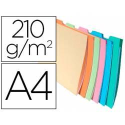 Subcarpeta Cartulina DIN A4 Exacompta con Clasificador Colores Surtidos 210 gr