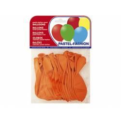 Globos Pastel Naranja Bolsa de 20 unidades