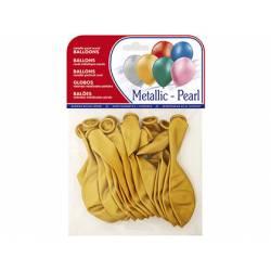 Globos Metalizados Oro Bolsa de 15 unidades