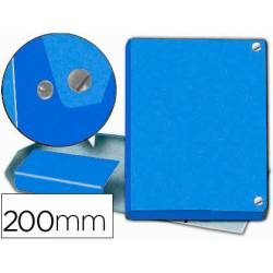 Carpeta de Proyectos Pardo Folio Cartón forrado con Broche Lomo 200mm Color Azul