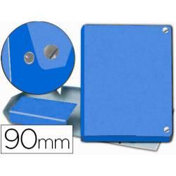 Carpeta de Proyectos Pardo Folio Cartón forrado con Broche Lomo 90mm Color Azul