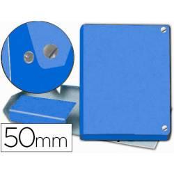 Carpeta de Proyectos Pardo Folio Cartón forrado con Broche Lomo 50mm Color Azul