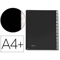 Carpeta Clasificadora Pardo DIN A4+ Carton Compacto con Fuelle 12 departamentos Negro