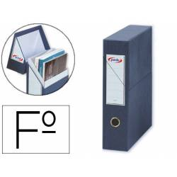 Archivador con tapa Pardo Carton Azul 335x250x80 mm