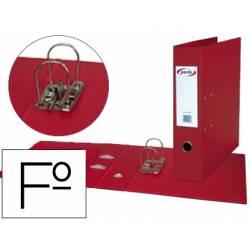 Archivador de Palanca Pardo Plastico Folio Lomo 80 mm color Rojo